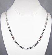 ketting-figaro schakel-staal-60cm-3mm-zilverkleurig