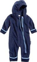 Playshoes - Fleece overall in contrasterende kleuren voor baby's  - Marineblauw - maat 74cm