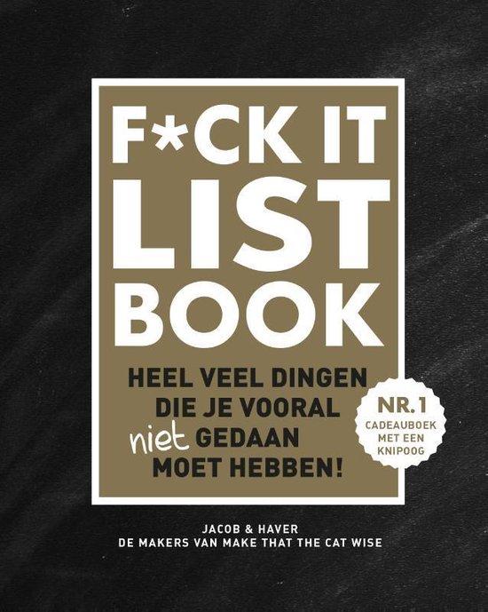 Boek cover F*CK-it list book van Jacob & Haver (Hardcover)