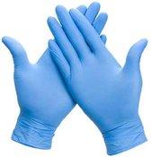 Nitril wegwerphandschoenen blauw poedervrij maat L  100 stuks