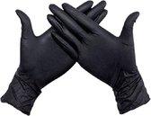 Handschoenen Wegwerp Nitril - Latex vrij - Ongepoederd - zwart - maat M - 100 stuks