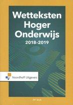 Boek cover Wetteksten hoger onderwijs 2018-2019 van Uittenbogaard (Paperback)
