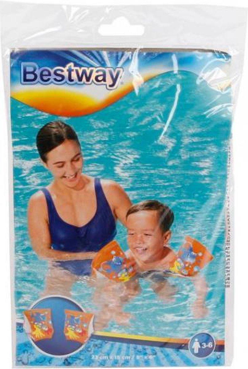 zwembandjes Friendly Fish junior oranje 2 stuks