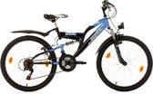 Ks Cycling Fiets 24'' kinderfiets Zodiac van KS Cycling, zwart-blauw, FH 38 cm - 38 cm