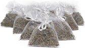 Bio Scents geur zakjes Franse Lavendel 10 stuks wit - biologisch
