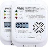Alecto COA-26 TWIN Koolmonoxide melder, 2st - long life sensor 7 jaar