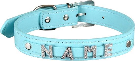 """scarlet pet   Hondenhalsband """"My-Name"""" incl. 5 strass letters; kan gepersonaliseerd worden met de naam van uw hond; extra letters kunnen besteld worden. Turquoise (M) 38 cm"""