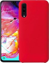 Samsung Galaxy A50 Hoesje Siliconen Hoes Back Cover Case - Rood