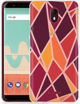 Wiko View Go Hoesje Colorful Triangles
