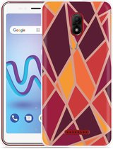 Wiko Jerry 3 Hoesje Colorful Triangles