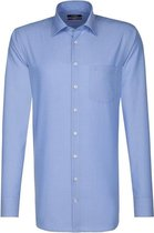 Seidenstciker overhemd modern fit midden blauw, maat 40