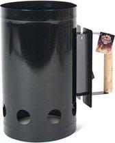 Luxe zwarte barbecue briketten starter 27 x 17 cm