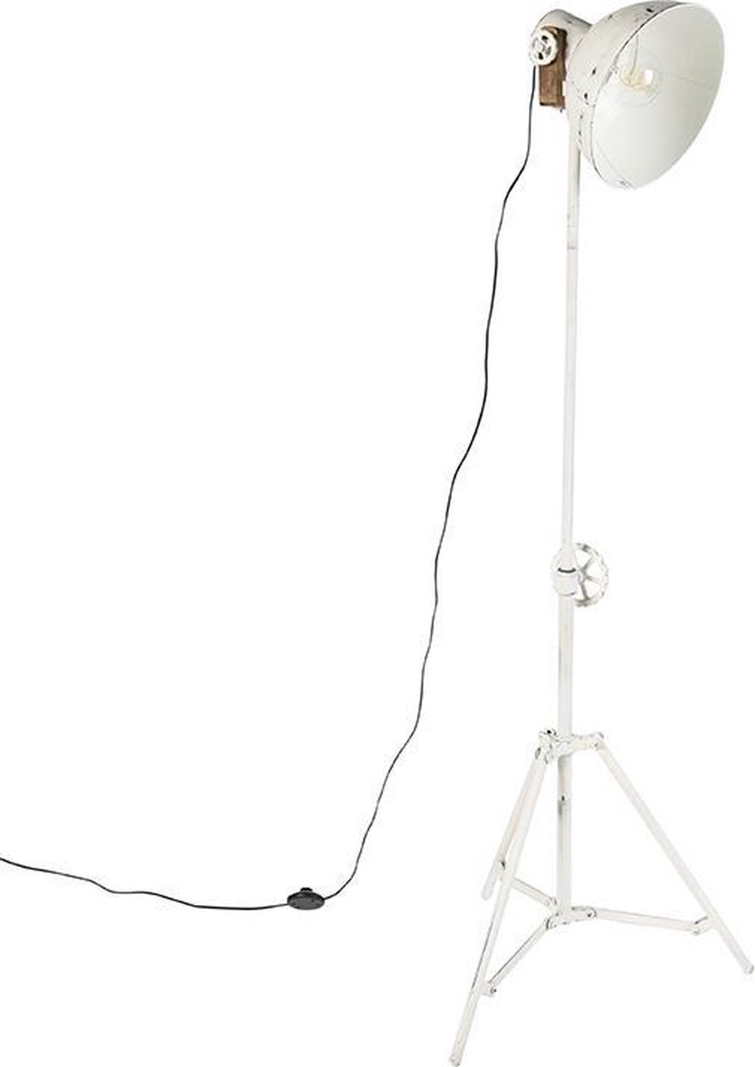 Bol Com Qazqa Mangoes Tripod Driepoot Tafellamp 1 Lichts H 1600 Mm Wit