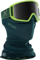 Anon Relapse goggle green / sonar smoke (met MFI mask en extra amber lens)