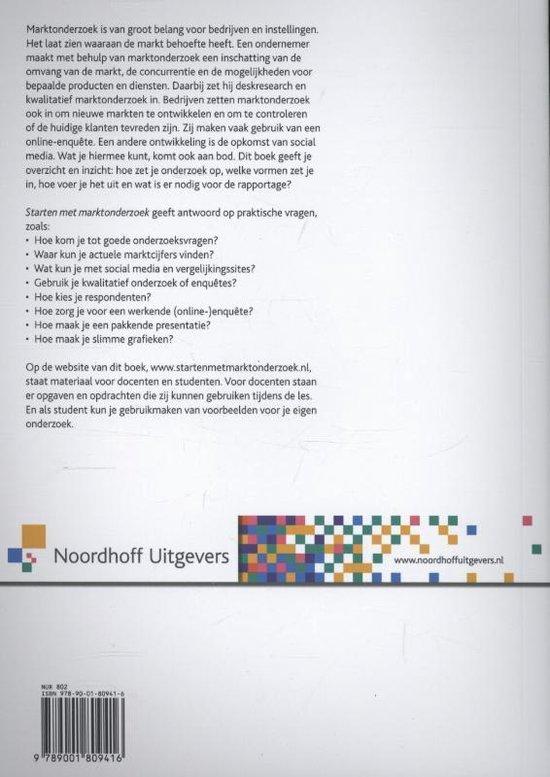 Marktonderzoek voor het Hoger Onderwijs - Starten met marktonderzoek - M.A. Broekhoff |