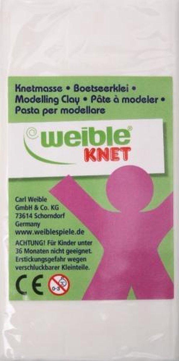 Weible Knet Fantasie Klei Blokvorm Wit - 250 Gram
