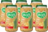 Olvarit 12 maanden - groentehapjes - courgette kip pasta - 6 x 250 gram