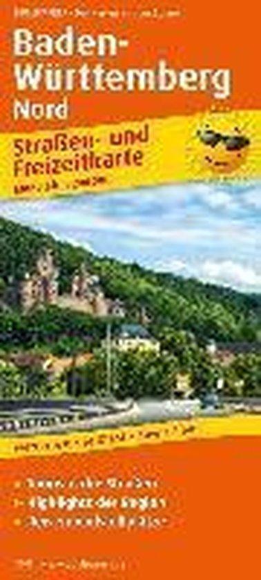 Baden-Württemberg-Nord. Straßen- und Freizeitkarte 1 : 200 000