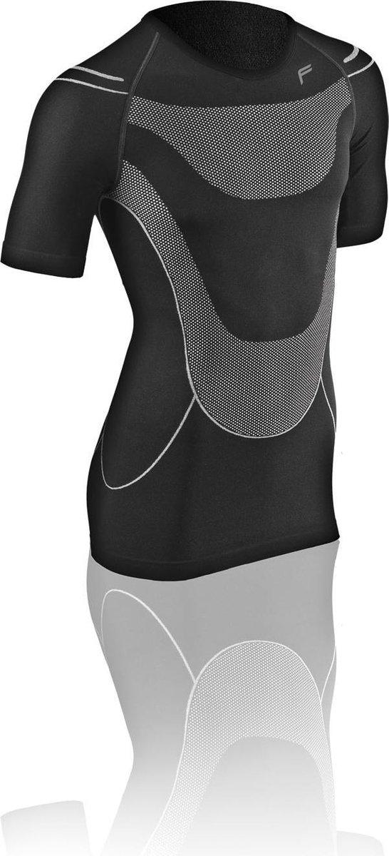 F-Lite | Megalight 140 | zweetshirt XXL | Regulerende kleding | Thermokleding | Zwart / Grijs | Onderkleding | Korte mouw | Fietsen | Wintersport | Base layer | Onder shirt voor alle jaargetijden