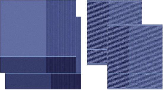 DDDDD Blend - 2x Theedoek & 2x Keukendoek - Violet