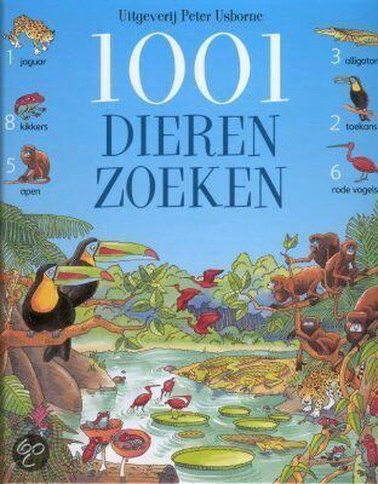 Cover van het boek '1001 dieren zoeken' van Ruth Brocklehurst