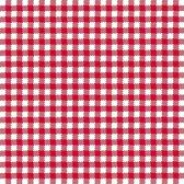 Oktoberfest - 20x stuks Servetten geruit rood/wit 3-laags - feestartikelen party bbq servetjes