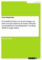 De karakterisering van de personages op basis van hun namen in de roman 'Historie van mejuffrouw Sara Burgerhart' van Betje Wolff en Aagje Deken