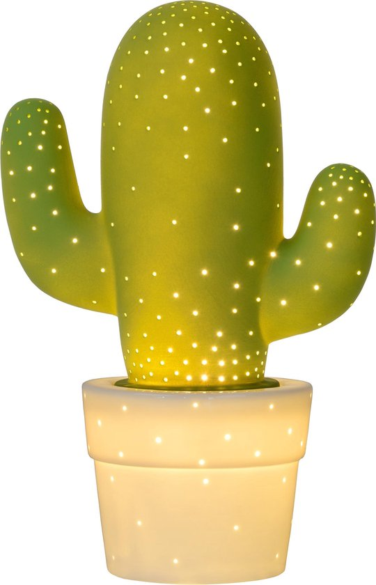 Lucide CACTUS Tafellamp - Ø 20 cm - 1xE14 - Groen