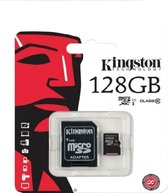 Het Origineel Kingston 128GB Micro SDXC Class 10 UHS-I 45R FlashCard Single Pack w/o Adapter