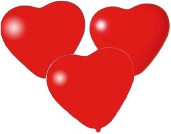 Pegaso Ballonnen Hart Rood 15 Stuks 21 Cm