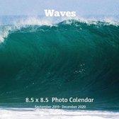 Waves 8.5 X 8.5 Calendar September 2019 -December 2020