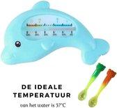 Baby bad thermometer (warmtegevoelig babyvoedingslepel cadeau) - Badthermometer - Water temperatuur meter - Thermometer voor in bad - Kraam cadeau!