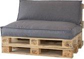 2L Home & Garden Palletkussen Metro Lounge Grijs - 120 x 80cm
