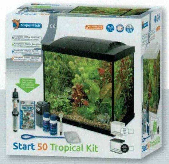 Start 50 Tropical Kit - 48 x 28 x 37 - 50 L - Wit
