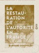 La Restauration de l'autorité en France
