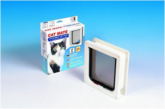 Cat Mate Kattenluik 234 met Tweewegsluiting - Wit - 19,2 x 20cm