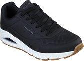 Skechers Uno Stand On Air Heren Sneakers - Zwart/Wit - Maat 43