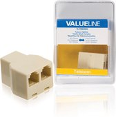 Valueline VLTB90990I telefoon splitter RJ-11 F 2x RJ-11 F Ivoor