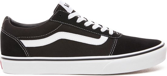 Vans Ward Heren Sneakers - (Suede Canvas) Black/White - Maat 42.5