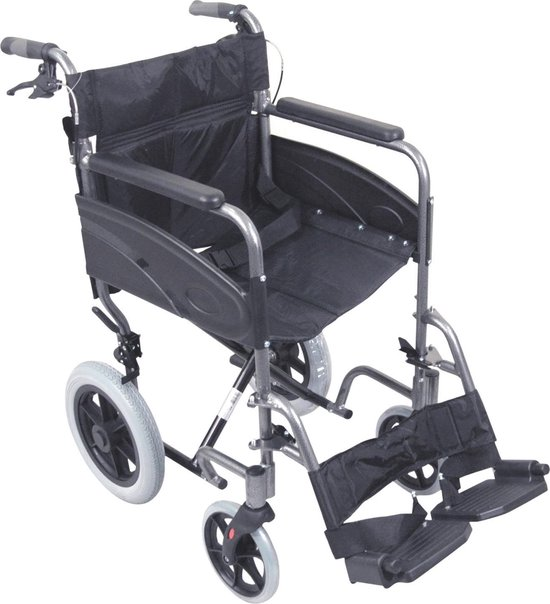 Aidapt - rolstoel - opvouwbaar - 8.5 kg - puntcure proof banden - transportrolstoel - Aidapt