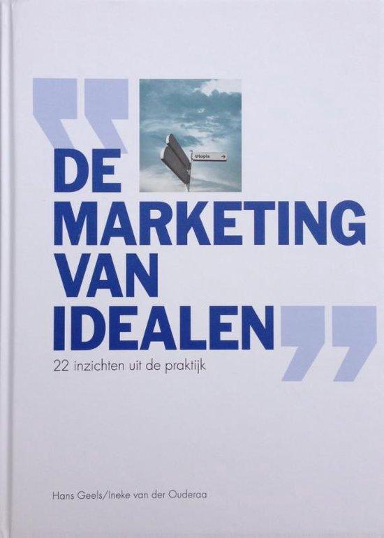 Cover van het boek 'De marketing van idealen' van Hans Geels