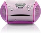 Lenco SCD-24 - Radio/CD-speler - Roze
