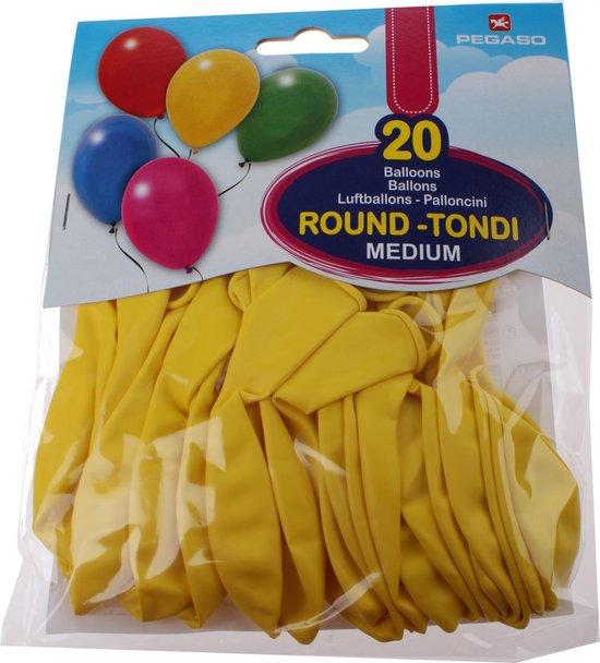 Pegaso Ballonnen 28 Cm Geel 20 Stuks