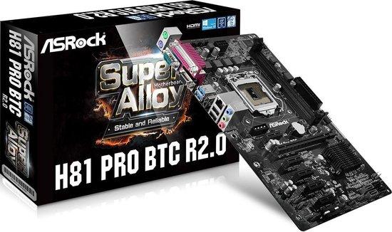 Asrock H81 PRO BTC R2.0 moederbord Intel® H81 LGA 1150 (Socket H3) ATX - Asrock