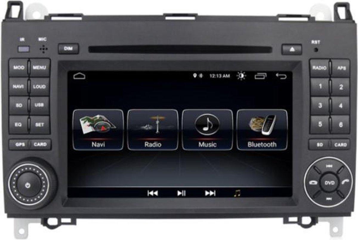 DAB+ autoradio voor Mercedes vito , sprinter , a-klasse , b-klasse,  android 9.0 bluetooth wifi  sd usb