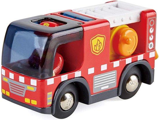Hape Brandweerauto Met Sirene Hout 9,5 Cm