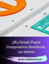 5X5 Graph Paper Composition Notebook, 150 sheets
