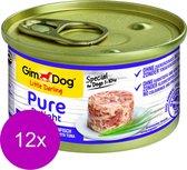 Gimdog Little Darling Pure Delight 85 g - Hondenvoer - 12 x Kip&Tonijn