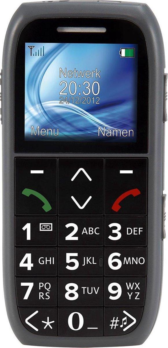 Fysic FM-7575 Big Button GSM – SOS Noodknop, Grote cijfers en letters 2 Snelkiestoetsen – Grijs