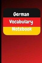 German Vocabulary Notebook